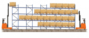 live pallet racking example